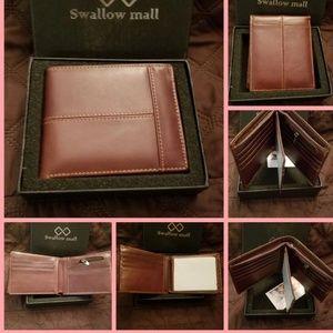 Other - RFID Genuine Leather Slim Bifold Wallet
